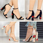 Women Fashion Strappy High Heel Sandals Rose Printed Shoes Hot Ankle Velvet