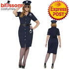 CA287 Curves NYC Police Lady Uniform Cops Robbers Woman Plus Size Dress Costume