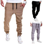 New Mens Casual Gym Tracksuit Bottoms Plain Jogging Trousers Joggers Sweatpants