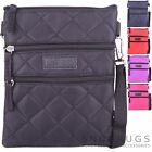 Ladies / Womens Diamond Look Travel Cross Body / Shoulder Bag / Pouch