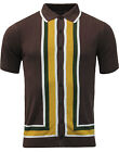 NEW MADCAP ENGLAND MOD RETRO 60s 70s MENS SCREAMIN JAY SHORT SLEEVE POLO BROWN