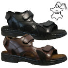 MENS LEATHER TWIN WALKING SUMMER HOLIDAY BEACH MULES SANDALS SHOES UK SIZE 6.5