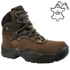 MENS LEATHER STEEL TOE CAP SAFETY WORK ANKLE HIKER TRAINERS SHOES BOOTS SIZE NEW
