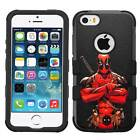 Deadpool #CR Hybrid Armor Case for iPhone SE/6/S/7/Plus/Galaxy S7/S8/Plus