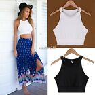 Fashion New Women Halter Sleeveless Vest Crop Top camisole Tank top Shirt Blouse