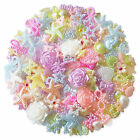 50pcs PASTEL Flatback Pearl Embellishments Cabochon Scrapbooking Wedding Craft