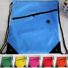 Colorful String Drawstring Backpack Cinch Sack Gym Swimming Bag School SportPack