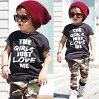 Fashion 0-4Y Newborn Baby Boy T-shirt Top+Camouflage Pants 2pcs Tracksuit Outfit