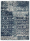 World Menagerie Chane Flowers Navy/Gray Area Rug
