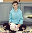 12 Colors Mens Loose Hooded Coat Hip Length Casual Sport Jacket Outwear Hot W52