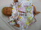 """DREAM PREMATURE 3-5LB PINK PATCH FRILLY DRESS & KNICKERS OR 14-16"""" REBORN DOLL"""