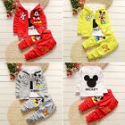 3pcs Kids Baby Boys Girls Outfits Set Mickey Mouse Coat+T shirt+Pants Clothing′