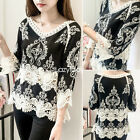 Fashion women Lace loose spring pullover long sleeve casual tops blouse Tee
