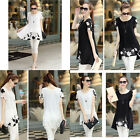 Hot Sale Womens Chiffon Shirt Special Plus Size Tops Print Floral Short Sleeve
