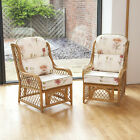 Alfresia 2 Cadiz Cane Conservatory Furniture Armchairs with Luxury Cushions