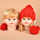 Baby Boy Girls Doll Head Face Manikins Mannequin Hat Scarf Display Model