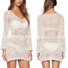 Women Casual Party Evening Cocktail Lace Hollow Knit Cover up Crochet Dress New
