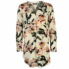 Only Womens Nova Tunic Drop Back V Neck Over The Head Design Buttoned Fastening