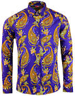 NEW MADCAP RETRO MOD 60s TANPURA PAISLEY TRIP BUTTON DOWN SHIRT: PURPLE MC317
