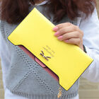 Fashion Women Leather Clutch Wallet Long Card Holder Coin Case Purse Zip Handbag