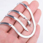 """# BUY 1 GET 1 FREE# 18K White Gold Filled 20"""" 4mm Flat Snake Chain Necklace C764"""
