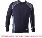 XLC CRUISE THERMAL LONG SLEEVE MENS CYCLING JERSEY SHIRT BLK/GREY NYLON £20 OFF