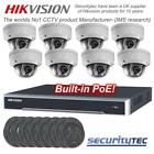 Hikvision 8ch PoE NVR, 8 x 4MP wide angle 4mm Dome IP camera kit CCTV System