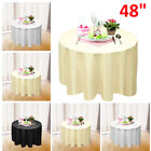 "48"" Round Tablecloth Polyester Table Cover Cloth Banquet Wedding Party"