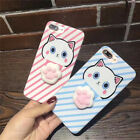 For iPhone 6s7/7plus lovely 3D cat paw Soft Silicone Back Phone Case Cover
