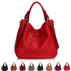 XL Ladies Hobo Bags Soft Faux Leather Women Shoulder Strap Shopper Day Handbags