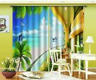 3D Sea Balcony 93 Blockout Photo Curtain Printing Curtains Drapes Fabric Window