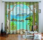3D Pavilion View 5 Blockout Photo Curtain Printing Curtains Drapes Fabric Window