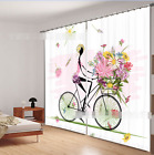 3D Flower Girl 3 Blockout Photo Curtain Printing Curtain Drapes Fabric Window AU