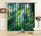 3D Lush Forest Blockout Photo Curtain Printing Curtains Drapes Fabric Window AU