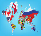 3D International map 1WallPaper Murals Wall Print Decal Wall Deco AJ WALLPAPER
