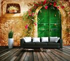 3D Flower vine door 1A Paper Murals Wall Print Decal Wall Deco AJ WALLPAPER