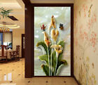 3D Jade Flowers 620 Wall Paper Murals Wall Print Decal Wall Deco AJ WALLPAPER