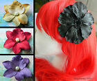 LARGE FLOWER HAIR CLIP ACCESSORY FLORAL BLACK RED GOLD BLUE PURPLE PEARL SUMMER