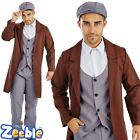 Adult Mens 1920s Costume Gangster Tommy Shelby Peaky Blinders Fancy Dress Outfit