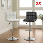 2 x NEW FAUX LEATHER BAR STOOLS BREAKFAST KITCHEN CHAIR CHROME SWIVEL BARSTOOLS