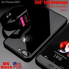 for iPhone 7 5S 6 6S 7 Plus Case Slim Cover Ultra Thin PC Shockproof Jet Black