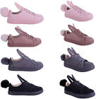 Womens Ladies Girls Quirky pom pom bunny rabbit Pumps Trainers Shoes Size