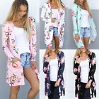 Kyпить New Fashion Womens Floral Long Sleeve Top Maxi Blouse Beach Cardigan Size 6-16 на еВаy.соm