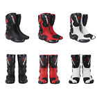 Motorcycle Boots Street Bike Racing Black Red White Size US 7 8 9 95 105 11
