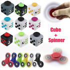 Fidget Hand Spinner Cube Stress Relief Finger Tri Gyro Toys Gifts Kids Adults