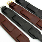 Excellent Heavy Leather Military Watch Strap Band Cuff Style 18mm FREE POST D024