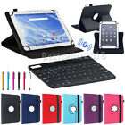 """For Amazon Kindle Fire 7"""" 8"""" 10"""" 2017-2012 Bluetooth Keyboard+Leather Case Cover"""