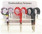 """Assorted Embroidery Scissors #6340-17, Sewing & Quilting Thread, 3.75"""""""