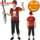 CK1012 Jolly Roger Pirate Boys Costume Caribbean Buccaneer Kids Fancy Book Week