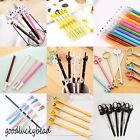 Various Kawaii Fun Black Gel Ink Roller Ball Point Pen Cat Korean Gifts School
